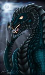 Viridian Dragon by NecrosisTheDark