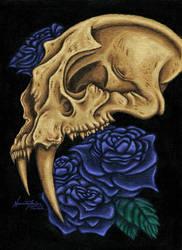 Sabre Rose Skull by NecrosisTheDark