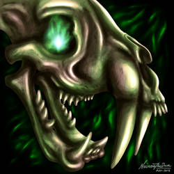 Sabre Skull by NecrosisTheDark