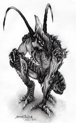 Necrophage Forager [Traditional] by NecrosisTheDark