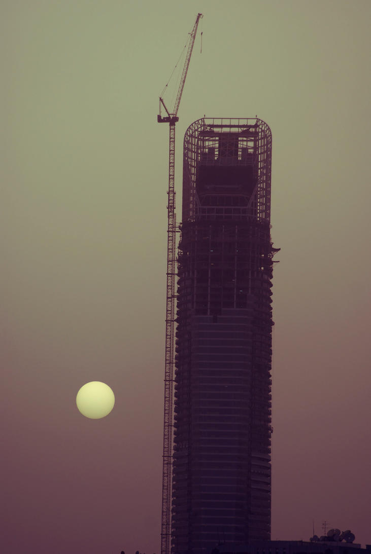 Sunset In Abu Dhabi by Einas-A
