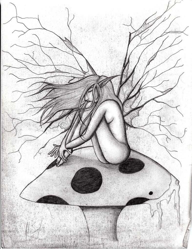 fairy on mushroom by raul duke 05 on deviantart