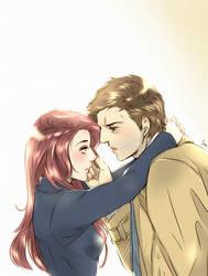 Anna and Castiel by Pra88