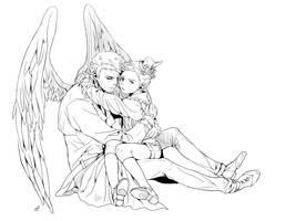 Cass and Little Dean by Pra88