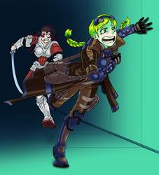 Domaru run after Trauma Doc to slay. by Falseidon