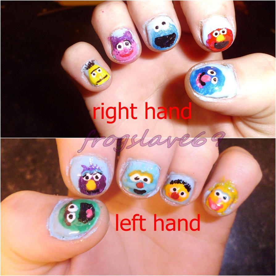 Sesame Street Nail Art By Frogslave69 On Deviantart