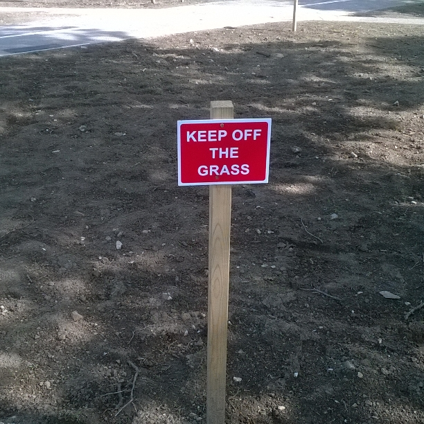 keep off the grass lol by frogslave69