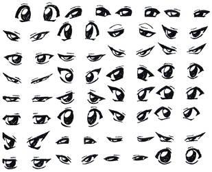 Manga Eyes by zeckos