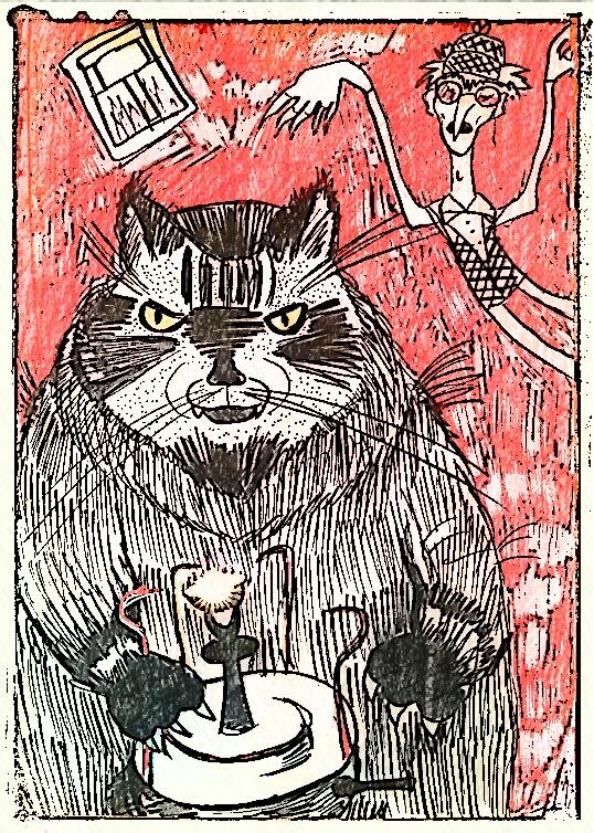 Cat Begemot from Master and Margarita novel by nastyomik