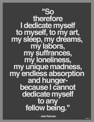 I Dedicate myself to myself