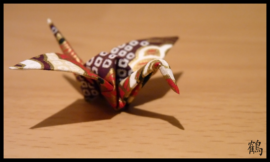 origami crane by st3rn1