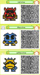Pushmo: Dr. Mario Viruses by st3rn1