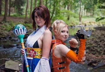 FFX - Rikku and Yuna II by st3rn1