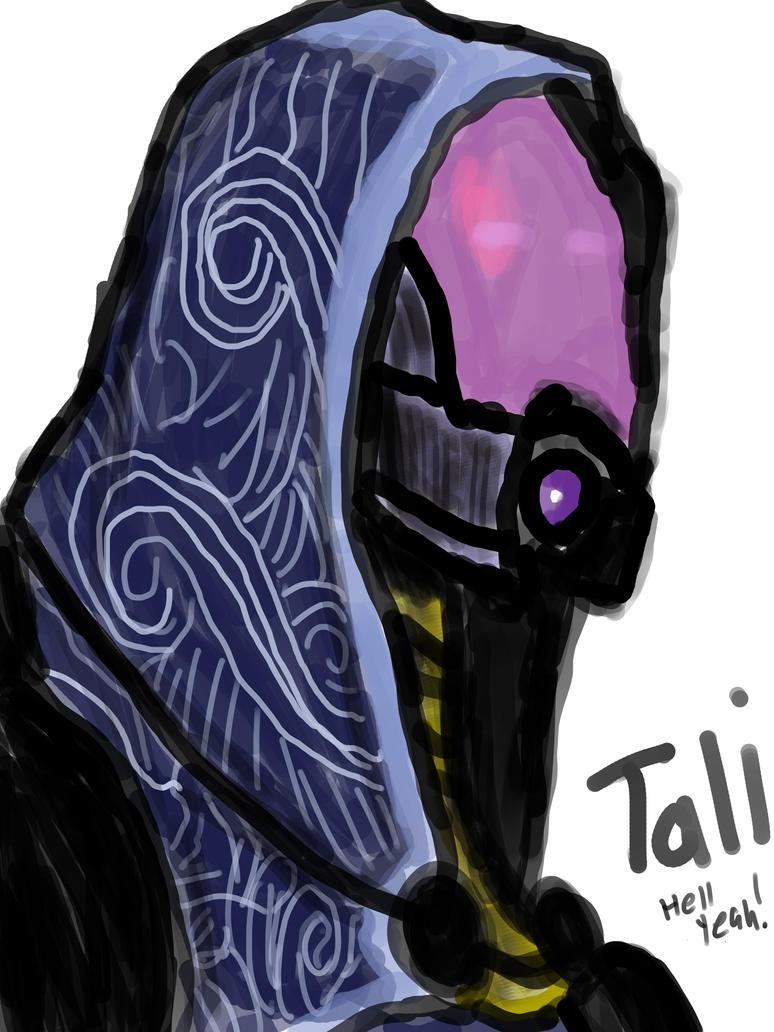 Tali Zorah Portrait by Ikulynd