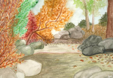 The Creek in the Glade by Y9ssra