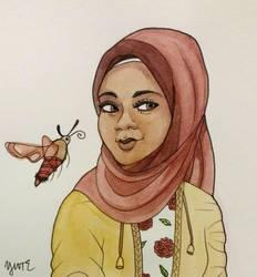 Hummingbird Moth by Y9ssra