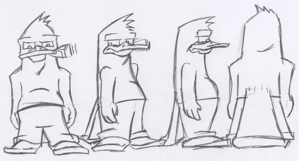 how to draw a platypus cartoon