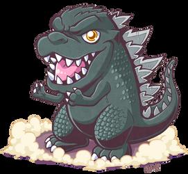 Godzilla chibi by MikeLuckas