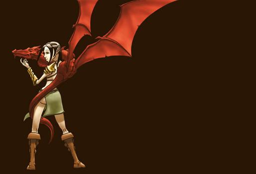Fille au dragon
