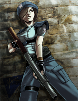 Jill Valentine color by stmanuel