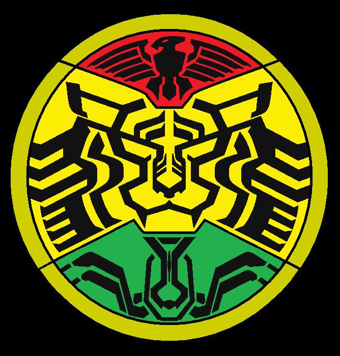 didapatkan dari kamen rider masa depan yaitu poseidon kamen rider tipe    Kamen Rider Ooo Burakawani Logo
