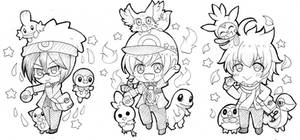 DRAMATIC STARS with Pokemon starters