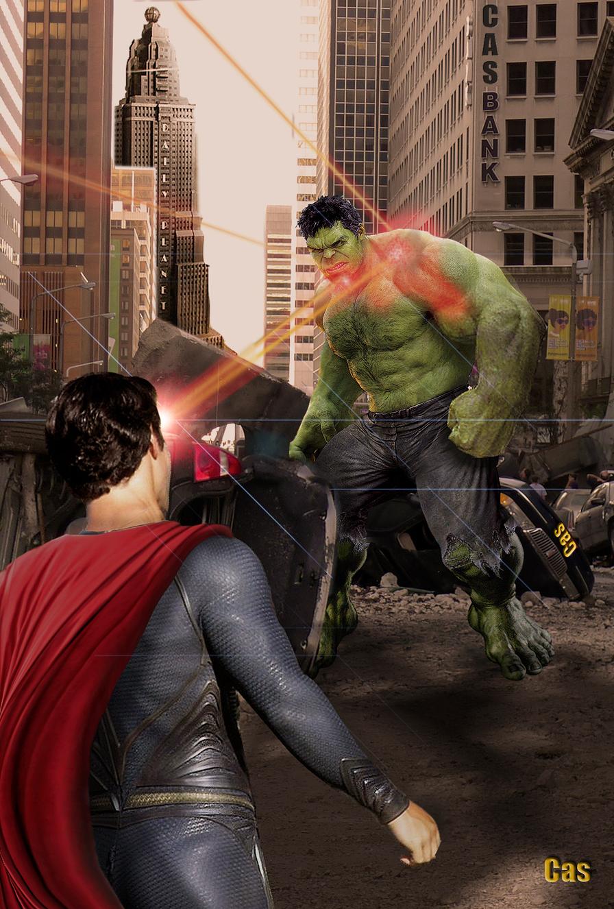 Man of Steel -V- Hulk by RomCas1963 on DeviantArt