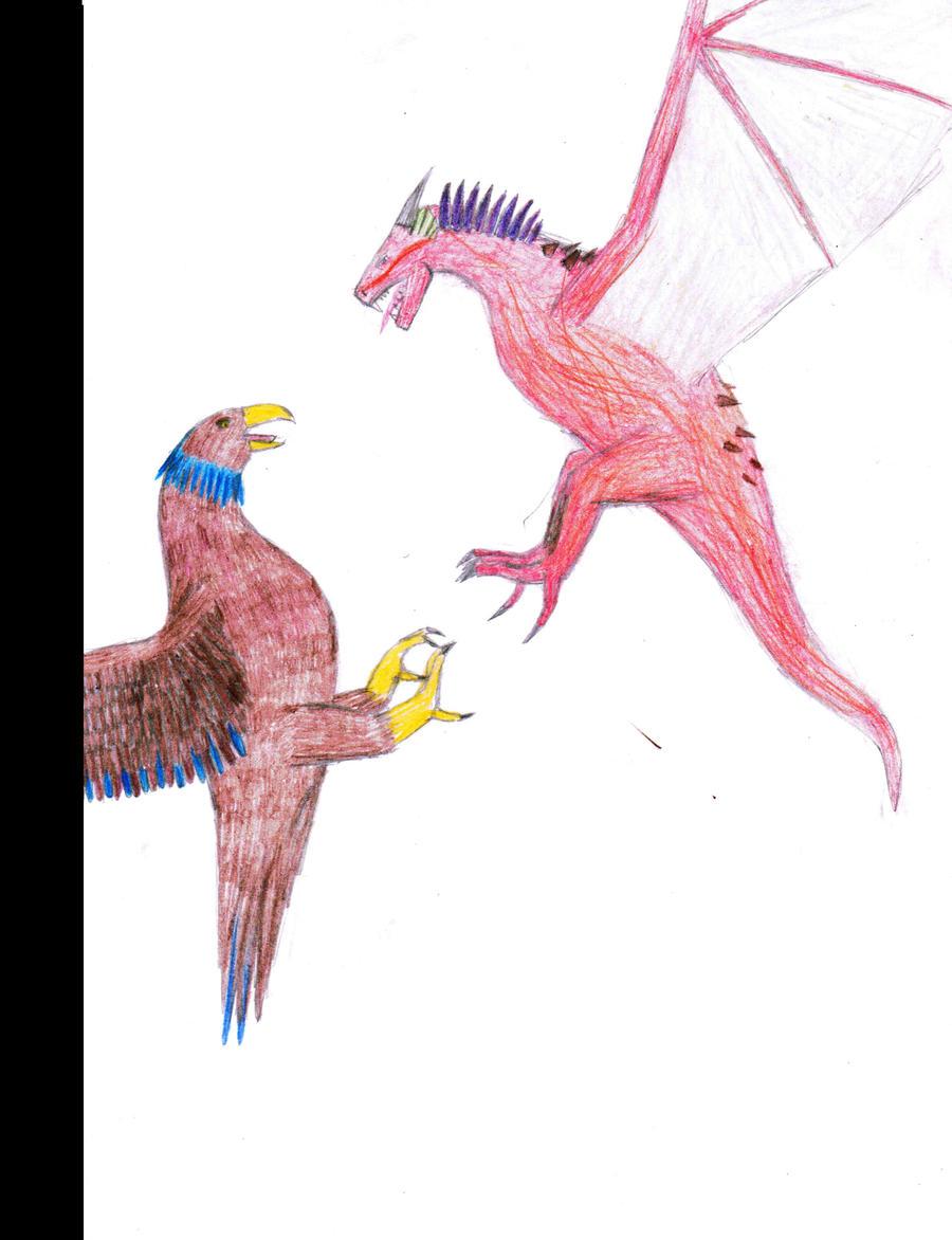 Eagle Vs Dragon Drawing Eagle Vs Dragon