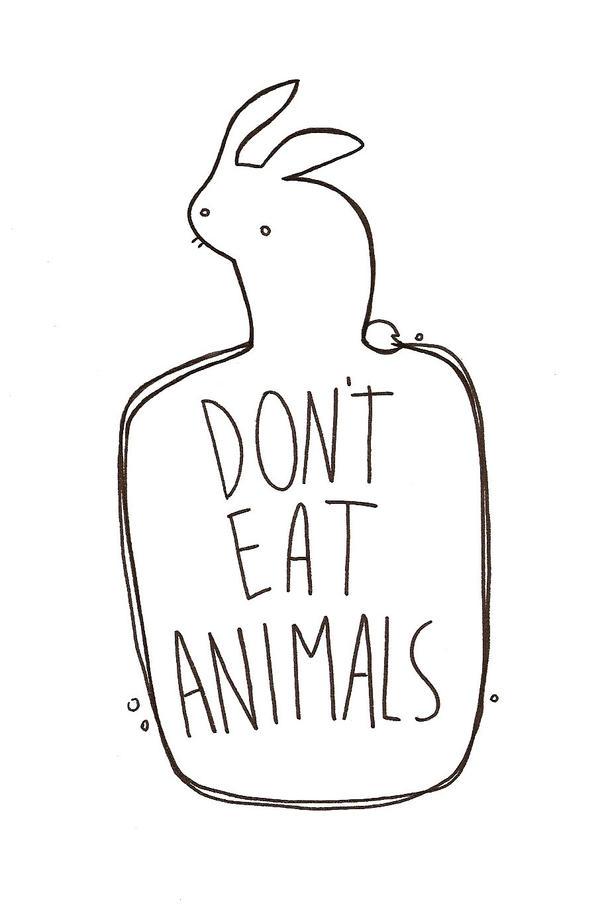 Rabbit_Don't eat animals by Qualcuna