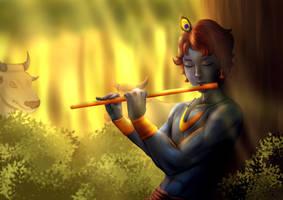 Krishna by Itelldraw