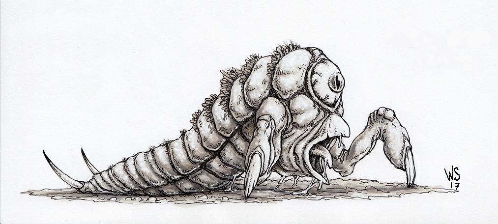 Gazing Terror Grub by TheWhiteSarcophagus