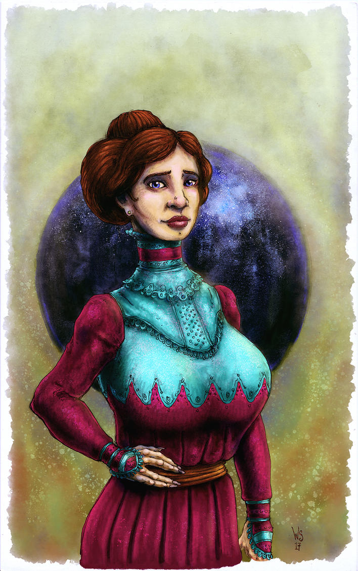 Miss Penelope Applebranche, monster hunter. by TheWhiteSarcophagus