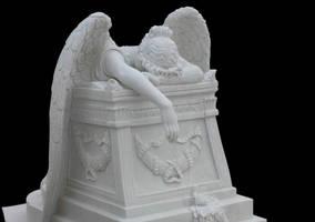 Angel Statue by AshenSorrow