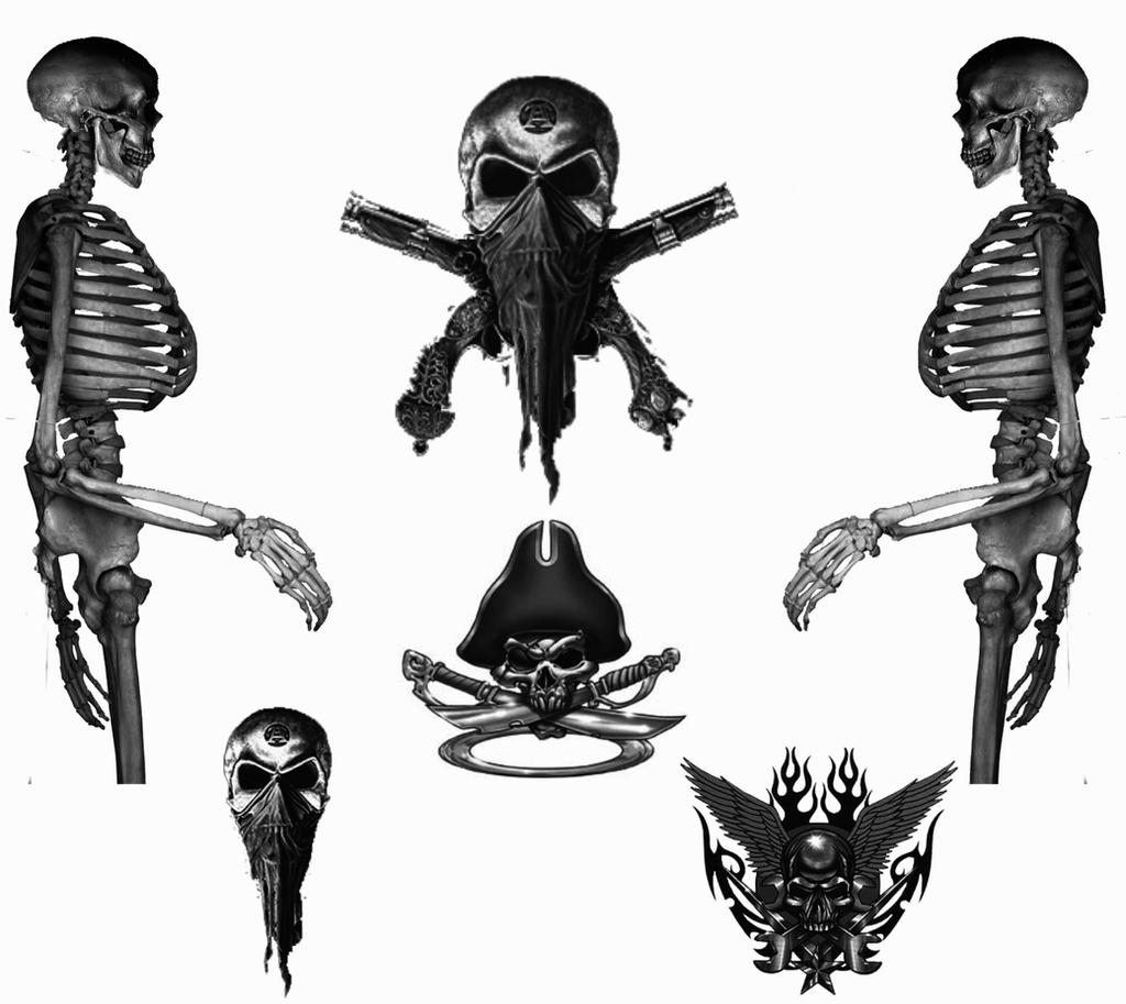 Skulls And Bones by AshenSorrow