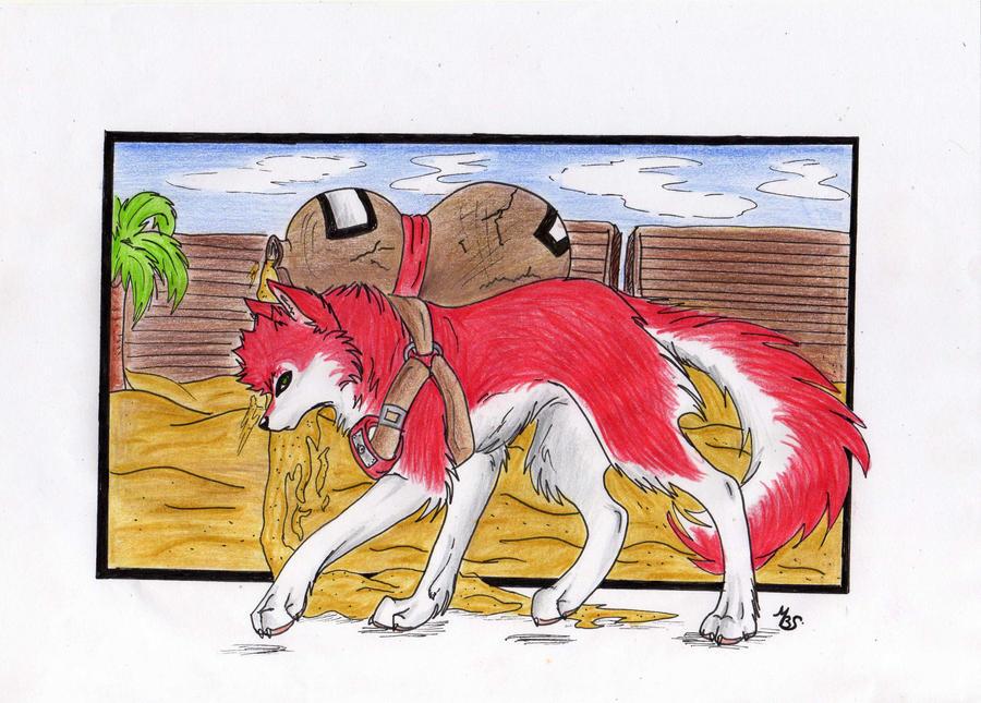 Gaara wolf on desert by MayhWolf on DeviantArt Gaara As A Wolf