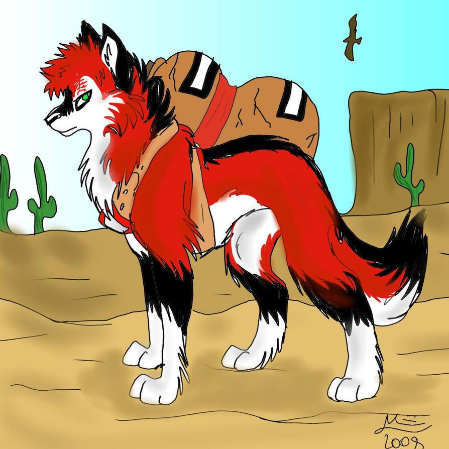 New Gaara wolf by MayhWolf on DeviantArt Gaara As A Wolf