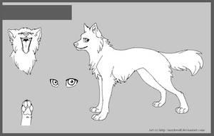 Free wolf base by MayhWolf