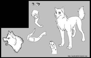 Ninja Wolf reff by MayhWolf