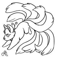 Kitsune free base by MayhWolf