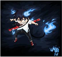 Blue Flames Demon by MayhWolf
