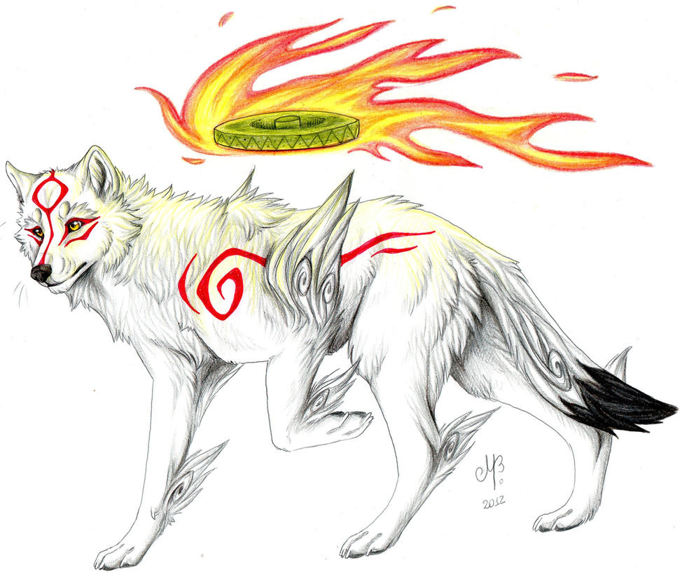 Japanese wolf drawing