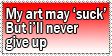 Stamp: Won't give up by Cpr-Covet
