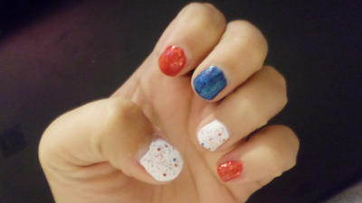 Memorial Day nails by Cpr-Covet