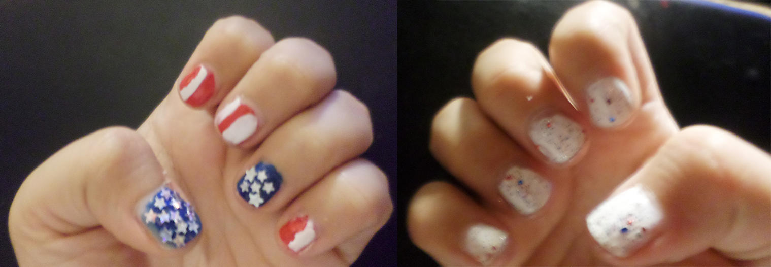 4th of July nails by Cpr-Covet