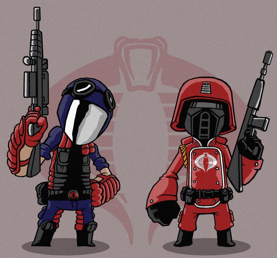 Crimson Guard and Viper by Sachmoe64