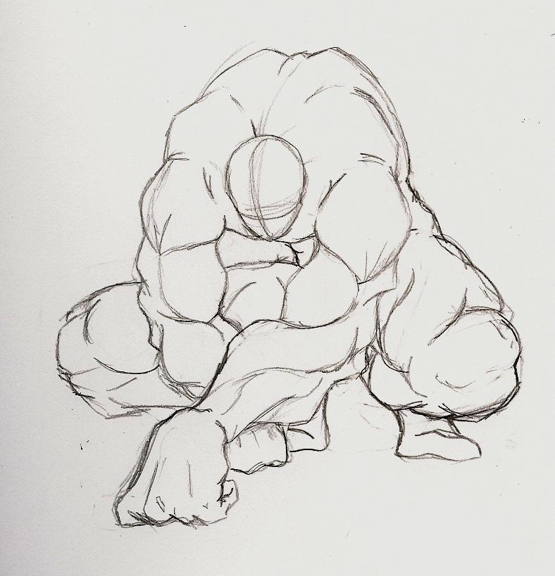 foreshortening anatomy study by Sachmoe64 on DeviantArt