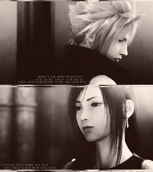 Final Fantasy Cloud Strife Wallpaper: Final Fantasy VII Cloud Strife And Tifa Lockhart By
