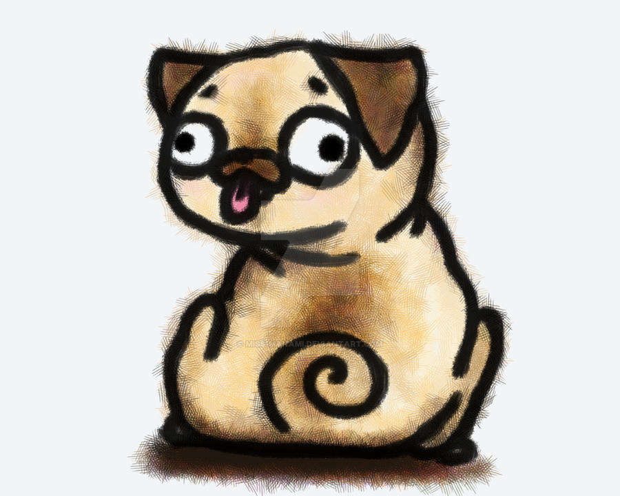 Sketchy Pug Doodle by miss-manami