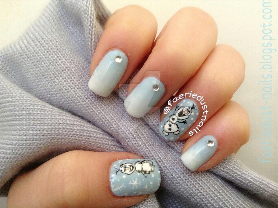 Olaf Inspired Nail Art By Miss Manami On Deviantart