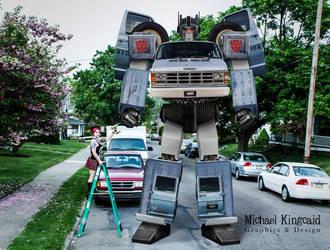 Angel Down Van Autobot Photoshop by rockdog80